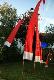 Weihnachtsfahne Balifahne 2m - 5m ohne Beschriftung