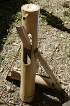 Wasserspiel - Wasserschaukel aus Bambus