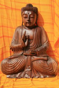 Buddha aus Holz edel 40 cm hoch