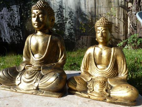 Buddha gold aus Racine Fiberglas